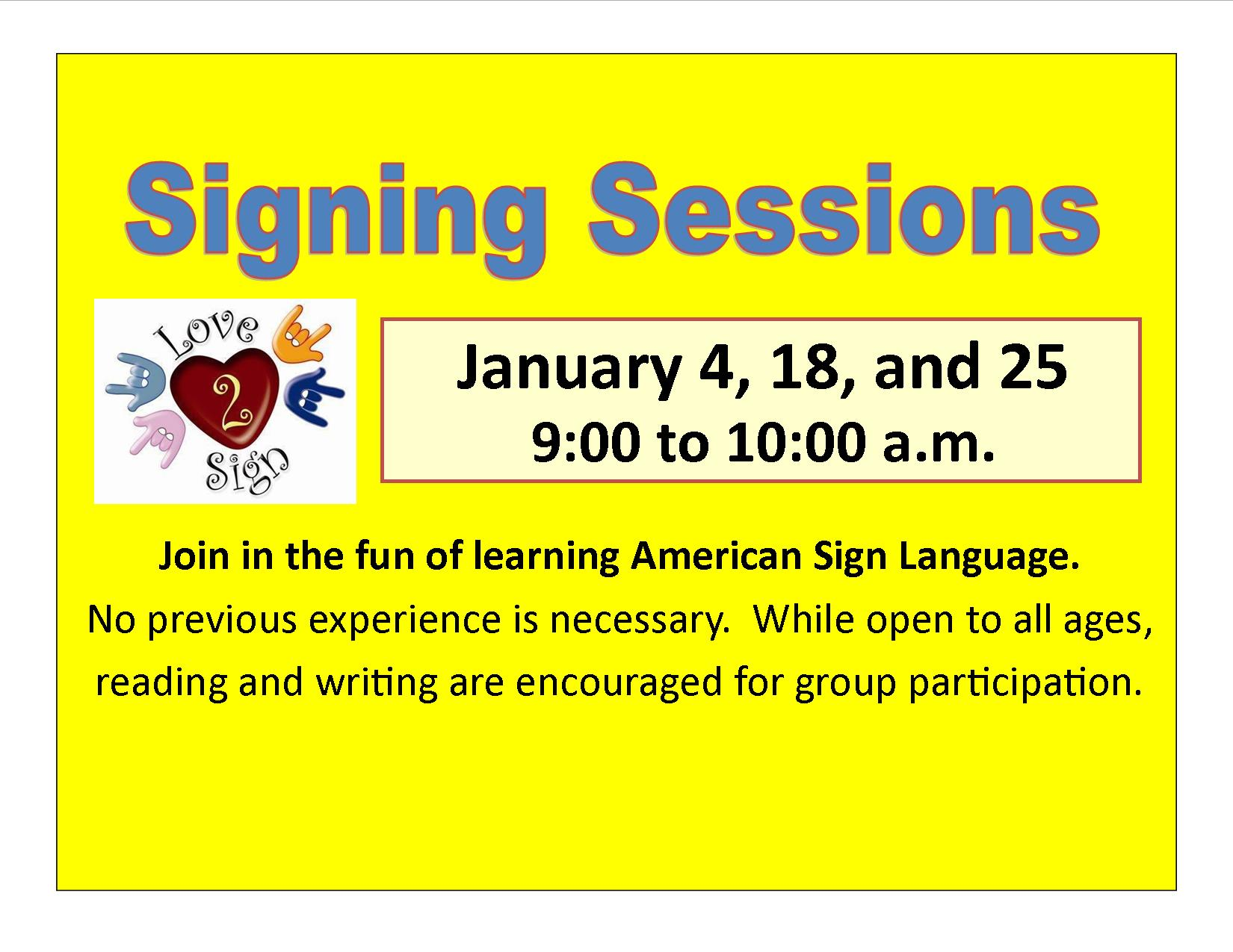 ASL Sessions | Reedsburg Public Library